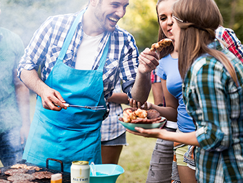 At the grill, let the great taste of a cold ALL-FREE mingle with the great taste of barbecue.