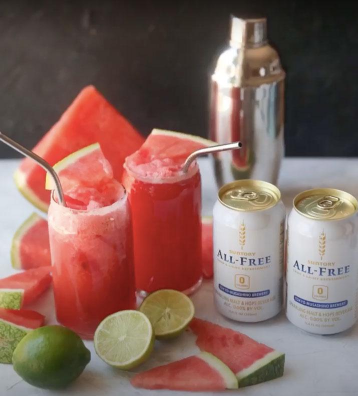 Watermelon Suntory ALL-FREE  Virgin Margarita